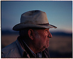 1997 -- Big John a cattle farmer. Scenes from the great state of New Mexico. Along Route 66 and down towards White Sands National Monument..©Andrew Kaufman