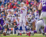 19 October 2014: Buffalo Bills quarterback Kyle Orton calls out a play in the third quarter against the Minnesota Vikings at Ralph Wilson Stadium in Orchard Park, NY. The Bills defeated the Vikings 17-16 in a dramatic, last minute, comeback touchdown drive. Mandatory Credit: Ed Wolfstein Photo *** RAW (NEF) Image File Available ***