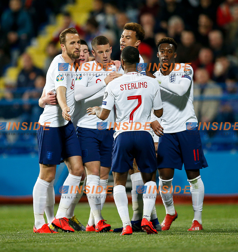 Ross Barkley of England celebrates after scoring his side's third goal to make the score 1-3  <br /> Podgorica 25-3-2019 <br /> Football Euro2020 Qualification Montenegro - England <br /> Foto Daniel Chesterton / PHC / Insidefoto <br /> ITALY ONLY