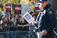 A province-wide protest against rising tuition fees in Toronto, Nov 2008