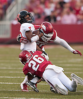 NWA Democrat-Gazette/BEN GOFF @NWABENGOFF<br /> Arkansas vs Texas Tech on Saturday Sept. 19, 2015 during the game in Razorback Stadium in Fayetteville.