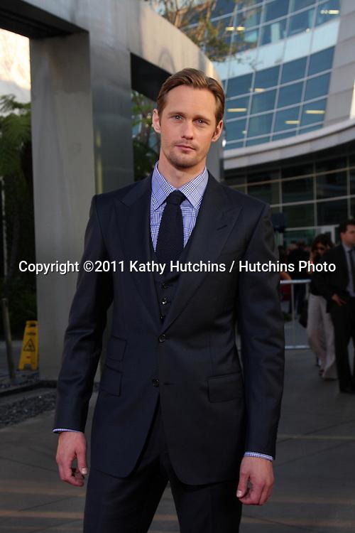 LOS ANGELES - JUN 21:  Alexander Skarsgard arriving at the True Blood Season 4 Premiere at ArcLight Theater on June 21, 2011 in Los Angeles, CA