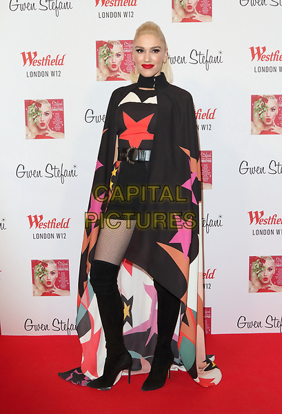 Gwen Stefani at a backstage photocall prior to officially turning on the 2017 Westfield Shopping Centre Christmas Lights, White City, London on November 30th 2017<br /> CAP/ROS<br /> &copy;Steve Ross/Capital Pictures