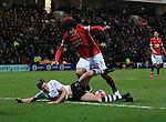 Preston's Paul Huntington tussles with Manchester United's Marouane Fellaini<br /> <br /> FA Cup - Preston North End vs Manchester United  - Deepdale - England - 16th February 2015 - Picture David Klein/Sportimage