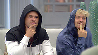 Celebrity Big Brother 2017<br /> Jordan Davies and Sam Thompson.<br /> *Editorial Use Only*<br /> CAP/KFS<br /> Image supplied by Capital Pictures