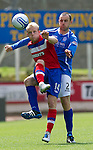 St Johnstone v Rangers... 30.07.11   SPL Week 2.Steven Naismith and Dave Mackay.Picture by Graeme Hart..Copyright Perthshire Picture Agency.Tel: 01738 623350  Mobile: 07990 594431