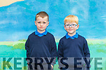 Dylan Harrington left and Lorcan Sweeney junior infants in Tulloha NS Bonane, Kenmare on Thursday