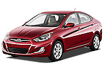 Front three quarter view of a 2012 Hyundai Accent GLS Sedan .