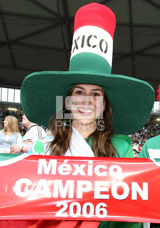 Senorita predicts the outcome of the tournament. Mexico and Angola played to a 0-0 tie in their FIFA World Cup Group D match at FIFA World Cup Stadium, Hanover, Germany, June 16, 2006.