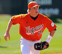 Clemson infielder Kyle Parker (25) prior to a game between the Clemson Tigers and Mercer Bears on Feb. 23, 2008, at Doug Kingsmore Stadium in Clemson, S.C. Photo by: Tom Priddy/Four Seam Images