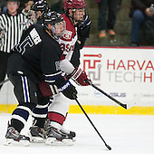 Charlie Donners (Bentley - 15), Brian Hart (Harvard - 39) - The Harvard University Crimson defeated the visiting Bentley University Falcons 3-0 on Saturday, October 26, 2013, in Harvard's season opener at Bright-Landry Hockey Center in Cambridge, Massachusetts.