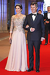 """CROWN PRINCE FREDERIK AND CROWN PRINCESS MARY OF DENMARK.attend the gala farewell dinner for Queen Beatrix at the Rijksmuseum in Amsterdam, The Netherlands_April 29, 2013..Crown Prince Willem-Alexander and Crown Princess Maxima will be proclaimed King and Queen  of The Netherlands on the abdication of Queen Beatrix on 30th April 2013..Mandatory Credit Photos: ©NEWSPIX INTERNATIONAL..**ALL FEES PAYABLE TO: """"NEWSPIX INTERNATIONAL""""**..PHOTO CREDIT MANDATORY!!: NEWSPIX INTERNATIONAL(Failure to credit will incur a surcharge of 100% of reproduction fees)..IMMEDIATE CONFIRMATION OF USAGE REQUIRED:.Newspix International, 31 Chinnery Hill, Bishop's Stortford, ENGLAND CM23 3PS.Tel:+441279 324672  ; Fax: +441279656877.Mobile:  0777568 1153.e-mail: info@newspixinternational.co.uk"""