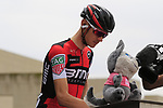 Teejay Van Garderen (USA) BMC Racing Team at sign on before Stage 2 of the 100th edition of the Giro d'Italia 2017, running 221km from Olbia to Tortoli, Sardinia, Italy. 6th May 2017.<br /> Picture: Eoin Clarke | Cyclefile<br /> <br /> <br /> All photos usage must carry mandatory copyright credit (&copy; Cyclefile | Eoin Clarke)