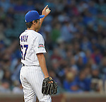 Tsuyoshi Wada (Cubs),<br /> JULY 28, 2014 - MLB : Chicago Cubs starting pitcher Tsuyoshi Wada during the Major League Baseball game against the Colorado Rockies at Wrigley Field in Chicago, USA.<br /> (Photo by AFLO)