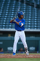 AZL Cubs 1 Manny Collier (16) at bat during an Arizona League game against the AZL Giants Orange on July 10, 2019 at Sloan Park in Mesa, Arizona. The AZL Giants Orange defeated the AZL Cubs 1 13-8. (Zachary Lucy/Four Seam Images)