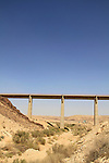 Israel, Negev, the railroad bridge at the gate to the Large Crater