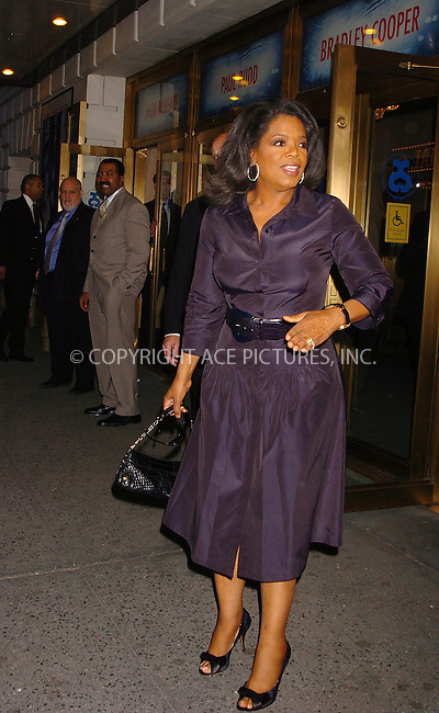 "WWW.ACEPIXS.COM . . . . . ....April 19 2006, New York City....OPRAH WINFREY....Arrivals at the opening night of ""Three Days of Rain"" staring Julia Roberts at the Bernard B Jacobs Theatre in midtown Manhattan....Please byline: AJ SOKALNER - ACEPIXS.COM..... . . . . ..Ace Pictures, Inc:  ..(212) 243-8787 or (646) 679 0430..e-mail: picturedesk@acepixs.com..web: http://www.acepixs.com"