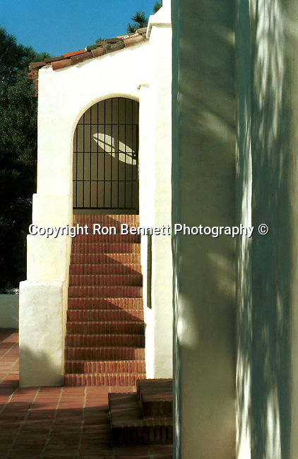 San Diego door Presidio Park the Junipero Serra Museum with lots of greenery, named after the Franciscan friar who led the religious portion of the expedition to California, Fine Art Photography by Ron Bennett, Fine Art, Fine Art photography, Art Photography, Copyright RonBennettPhotography.com ©