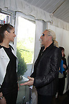 Dayana Mendoza (Miss Universe 2008) chats with Dee Snider - both on Celebrity Apprentice - The 2012 Skating with the Stars - a benefit gala for Figure Skating in Harlem celebrating 15 years on April 2, 2012 at Central Park's Wollman Rink, New York City, New York.  (Photo by Sue Coflin/Max Photos)