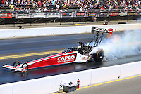 Jul. 27, 2014; Sonoma, CA, USA; NHRA top fuel driver Steve Torrence during the Sonoma Nationals at Sonoma Raceway. Mandatory Credit: Mark J. Rebilas-