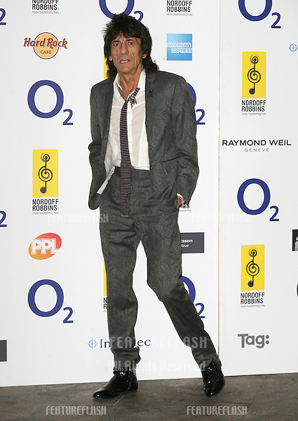 Ronnie Wood arriving for the Silver Clef Awards 2010, Park Lane Hilton, London. 05/07/2010  Picture by: Alexandra Glen / Featureflash