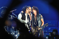 The Hollywood Vampires, Alice Cooper, Johnny Depp, Joe Perry<br /> performing at Olympic stadium. Moscow, Russia on May 28, 2018.<br /> **Not for sale in Russia or FSU**<br /> CAP/PER/EN<br /> &copy;EN/PER/Capital Picturess