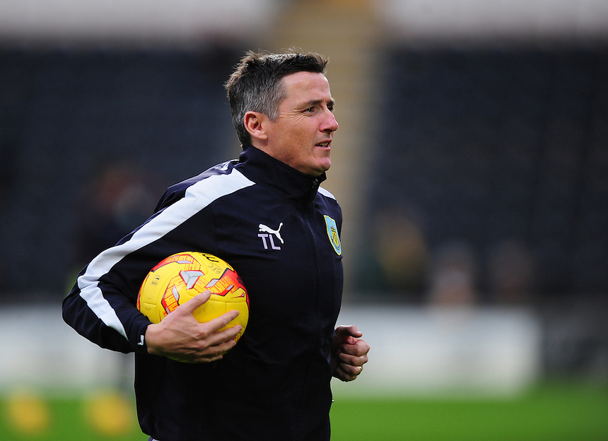 Burnley&rsquo;s first team coach Tony Loughlan during the pre-match warm-up <br /> <br /> Photographer Chris Vaughan/CameraSport<br /> <br /> Football - The Football League Sky Bet Championship - Hull City v Burnley - Saturday 26th December 2015 - Kingston Communications Stadium - Hull<br /> <br /> &copy; CameraSport - 43 Linden Ave. Countesthorpe. Leicester. England. LE8 5PG - Tel: +44 (0) 116 277 4147 - admin@camerasport.com - www.camerasport.com