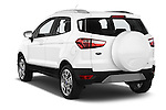 Car pictures of rear three quarter view of a 2015 Ford ECOSPORT TITANIUM 5 Door SUV Angular Rear