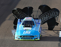 Feb 23, 2018; Chandler, AZ, USA; NHRA funny car driver Tim Wilkerson during qualifying for the Arizona Nationals at Wild Horse Pass Motorsports Park. Mandatory Credit: Mark J. Rebilas-USA TODAY Sports