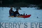 John Naughton & Tadgh Dalton sleighing down Ballygrennan Hill , Listowel on Monday evening.