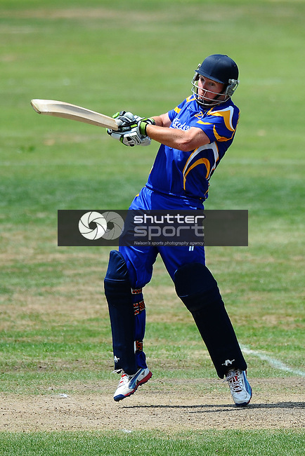 Car Company Senior One Day Cricket. Motueka v Wanderers. Memorial Park, Motueka, Nelson, New Zealand. Saturday 7 February 2015. Copyright Image: Chris Symes/www.shuttersport.co.nz