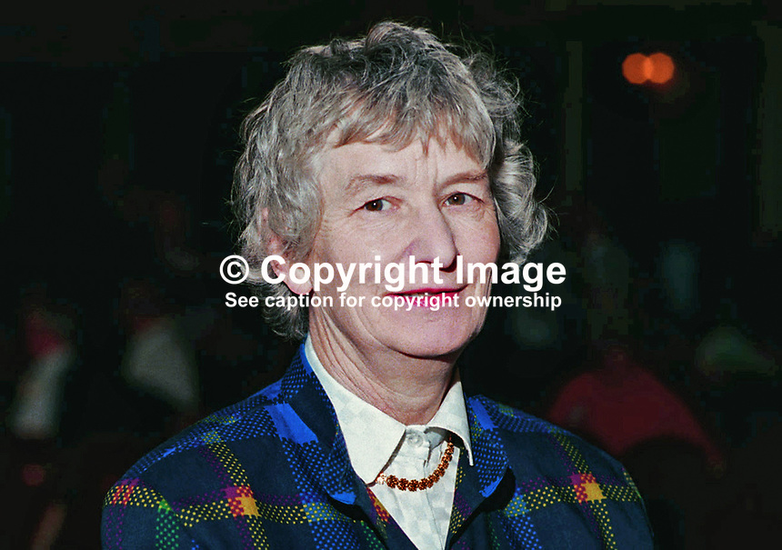 Baroness Hilton, aka Jennifer Hilton, Labour Life Peer, Photograph taken at 1994 Labour Party Conference. Ref: 199410050, Served as a police officer.<br />