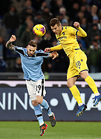 Football, Serie A: S.S. Lazio - Hellas Verona, Olympic stadium, Rome, February 5, 2020. <br /> Hellas Verona's Darko Lazovic (r) in action with Lazio's Manuel Lazzari (l) during the Italian Serie A football match between S.S. Lazio and Hellas Verona at Rome's Olympic stadium, Rome, on February 5, 2020. <br /> UPDATE IMAGES PRESS/Isabella Bonotto