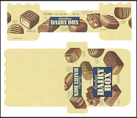 BNPS.co.uk (01202 558833)<br /> Picture: Nestle/BNPS<br /> <br /> ****Please use full byline****<br /> <br /> A selection of vintage chocolate and sweets wrappers have been unearthed to help trigger happy memories in dementia sufferers.<br /> <br /> Some of the earliest examples of the Rowntrees packaging dates from the 1920s and includes the first wrappers for famous treats such as Aero, Dairy Box, and Fruit Gums.<br /> <br /> As the brands were updated over the years the paper casing was gradually changed but examples of the early versions were stored in an archive.<br /> <br /> Historians at Rowntrees have now placed images of the packets on an online document so that they can be seen by dementia sufferers as a way to reminisce.