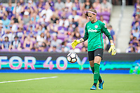 Orlando, FL - Saturday April 22, 2017: Stephanie Labbe during a regular season National Women's Soccer League (NWSL) match between the Orlando Pride and the Washington Spirit at Orlando City Stadium.