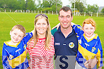 The O'Sullivan's family enjoying the fun day in Cordal GAA pitch on Sunday l-r: Sean, Bernie, Mike and Clodagh    Copyright Kerry's Eye 2008