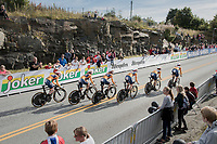 Team Boels-Dolmans out of the start box<br /> <br /> Women's Team Time Trial<br /> <br /> UCI 2017 Road World Championships - Bergen/Norway