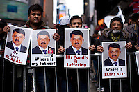 People from Bangladesh take part during a rally in Times Square New York, April 13, 2013. by Kena Betancur / VIEWpress