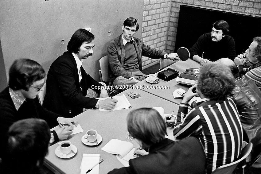 1979, ABN Tennis Toernooi, Persconferentie met Louk Sanders