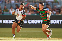 Issac Luke of the NZ Warriors, Rabbitohs v Vodafone Warriors, NRL rugby league premiership. Optus Stadium, Perth, Western Australia. 10 March 2018. Copyright Image: Daniel Carson / www.photosport.nz