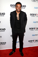 "LOS ANGELES - FEB 20:  AJ Moye at the ""God's Not Dead:  A Light in Darkness"" Premiere at the Egyptian Theater on February 20, 2018 in Los Angeles, CA"