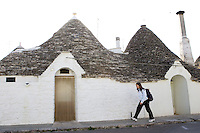 Uno scorcio dei trulli di Alberobello.<br /> View of the Trulli, typical beehive-shaped houses of Alberobello.<br /> UPDATE IMAGES PRESS/Riccardo De Luca