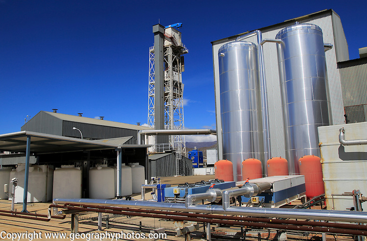 Desalinisation plant at the solar energy scientific research centre, Tabernas, Almeria, Spain