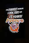 """'Avenue Q"""" 13th Anniversary and 3,QQQ Performance with Bar Mitzvah Party at the New World Stages on January 12, 2017 in New York City."""