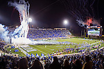In the newly renovated Wallace Wade Stadium, fans watch as the Duke Blue Devils upset the University of North Carolina Tar Heels 28-27 during their annual football game on Nov. 10, 2016.