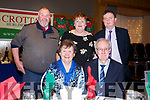 Enjoying the Crotta Social in Ballyroe Hotel on Friday night last, Seated l-r, Caty and Kevin Galvin.<br /> Standing l-r, Kay and Paddy Murnane and Tommy Neenan