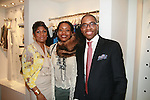 Jocelyn Taylor, Tracy Reese and AIDG Board Member Reggie Canal attends an exclusive elegant evening of fashion and design through Shop for a Cause highlighting art and fashion from local emerging Haitian artisans Hosted by Designer, Tracy Reese, JRT Multimedia, CEO Jocelyn Taylor and BACARDI USA at the Tracy Reese Flagship Store 1/26/11<br />