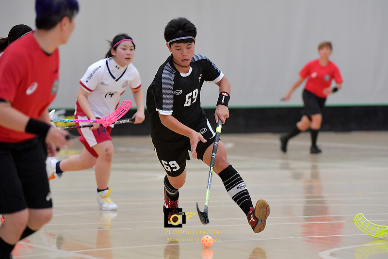 Thailand's Thanaporn Tongkham in action during the World Floorball Championships 2017 Qualification for Asia Oceania Region - Japan v Thailand at ASB Sports Centre , Wellington, New Zealand on Saturday 4 February 2017.<br /> Photo by Masanori Udagawa<br /> www.photowellington.photoshelter.com.