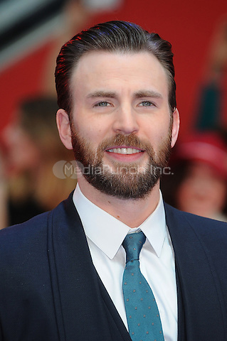 LONDON, ENGLAND - APRIL 26: Chris Evans attends the European premiere of Captain America: Civil War at Westfield Shopping Centre on April 26, 2016 in London, England.<br /> CAP/BEL<br /> &copy;BEL/Capital Pictures /MediaPunch ***NORTH AMERICAN AND SOUTH AMERICAN SALES ONLY***