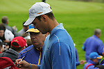 Martin Kaymer signs autographs during Practice Day 2 at the 2010 Ryder Cup at the Celtic Manor Twenty Ten Course, Newport, Wales, 29th September 2010..(Picture Eoin Clarke/www.golffile.ie)